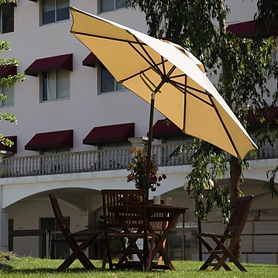 Abba Patio 9' Market Umbrella; Beige WYF078278353478
