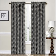 Traditions by Waverly Ellis Curtain Single Panel; Onyx