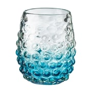 Global Amici Catalina Ombre Hobnail Double Old Fashioned Glass (Set of 4); Aqua