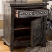 Hillsdale Pavia 1 Drawer 1 Door Accent Cabinet; Dark Gray