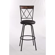 Hillsdale Howard Adjustable Height Swivel Bar Stool with Cushion