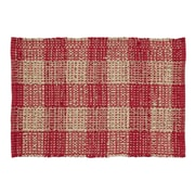 VHC Brands Breckenridge Red / Tan Area Rug; 1'8'' x 2'6''