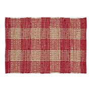 VHC Brands Breckenridge Red / Tan Area Rug; 2'3'' x 4'