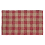 VHC Brands Breckenridge Red / Tan Area Rug; 3' x 5'