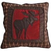 Carstens Inc. Moose Plaid Frame Throw Pillow