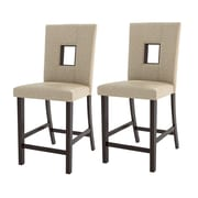 CorLiving Bistro 25'' Bar Stool with Cushion (Set of 2)