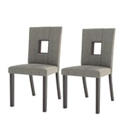 CorLiving Bistro Parsons Chair (Set of 2); Fabric - Grey Sand