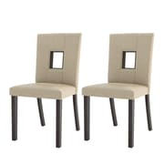 CorLiving Bistro Parsons Chair (Set of 2); Fabric - Woven Cream