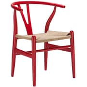 Edgemod Weave Side Chair (Set of 2); Red