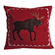 Carstens Inc. Moose Plaid Throw Pillow