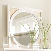 Legacy Classic Furniture Tower Suite Square Dresser Mirror; Pearl and Gold Tone Accents