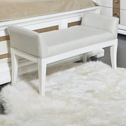 Legacy Classic Furniture Tower Suite Upholstered Bedroom Bench; Pearl and Gold Tone Accents