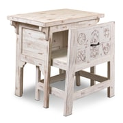Sunset Trading Tahiti Desk with Hidden Chair; Antique White