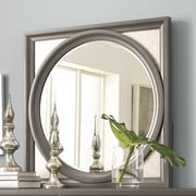 Legacy Classic Furniture Tower Suite Square Dresser Mirror; Moonstone and Silver Accents