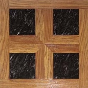Home Dynamix Dynamix Vinyl Tile 16'' x 16'' Luxury Vinyl Tiles in Paramount Woodtone/Black Marble