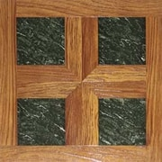 Home Dynamix Dynamix Vinyl Tile 16'' x 16'' Luxury Vinyl Tiles in Paramount Woodtone/Green Marble