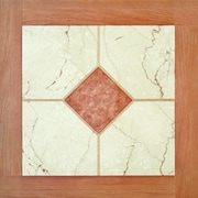 Home Dynamix Dynamix Vinyl Tile 16'' x 16'' Luxury Vinyl Tiles in Paramount Woodtone/White Marble