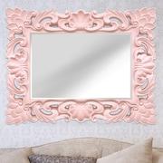 Stratton Home Decor Elegant Ornate Wall Mirror; Pink