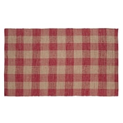 VHC Brands Breckenridge Red / Tan Area Rug; 9' x 11'