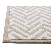 Hokku Designs Tracks White/Ivory Area Rug; 6'6'' x 9'9''