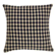 VHC Brands Check Cotton Pillow Cover; Black