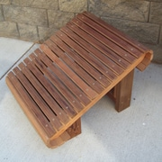 WoodCountry Ottoman; Unstained