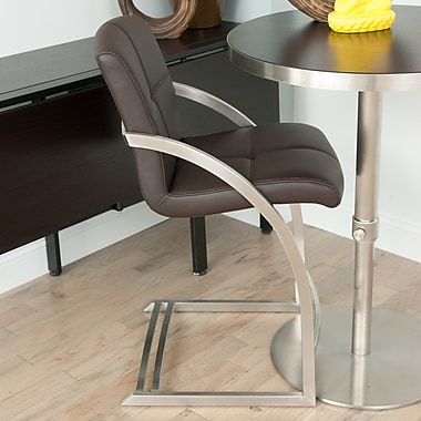 Matrix Vedo 26'' Bar Stool with Cushion; Brown