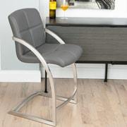 Matrix Vedo 26'' Bar Stool with Cushion; Grey