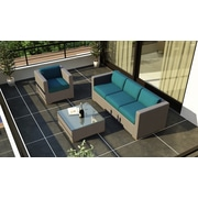 Harmonia Living Element 3 Piece Deep Seating Group w/ Cushion; Spectrum Peacock