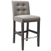 dCOR design Antonio 31'' Bar Stool with Cushion; Grey Tweed Fabric