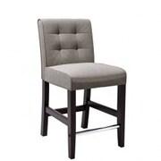 dCOR design Antonio 25  Bar Stool with Cushion; Grey Tweed Fabric