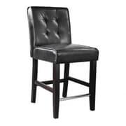 dCOR design Antonio 25  Bar Stool with Cushion; Black Bonded Leather