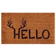 Home & More Antler Hello Doormat; 1'5'' x 2'5''