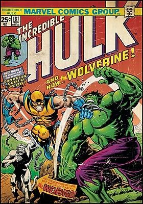 Wallhogs Marvel Comics Hulk/Wolverine Comic Cover Wall Decal WYF078278160718