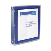Avery Flexi-View 1.5-Inch Round Ring Presentation Binder, Navy Blue  (17638)