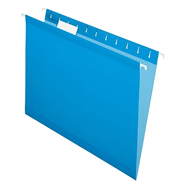 Pendaflex® - Chemises suspendues de luxe Reversaflex®, format lettre, 8 1/2 po x 11 po, bleues