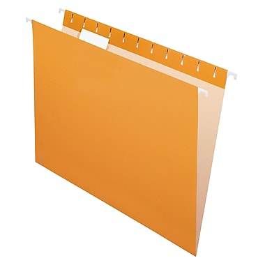 Pendaflex® Coloured File Hanging Folder, Letter Size, Orange, 25/Box