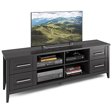 CorLiving™ TJK-602-B Jackson Extra Wide TV Bench, Wood Grain Finish for TVs up to 80