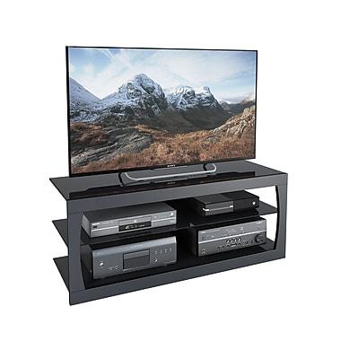 CorLivingMC – Meuble pour téléviseur jusqu'à 60 po TSL-103-T de la collection Santa Lana, noir mat