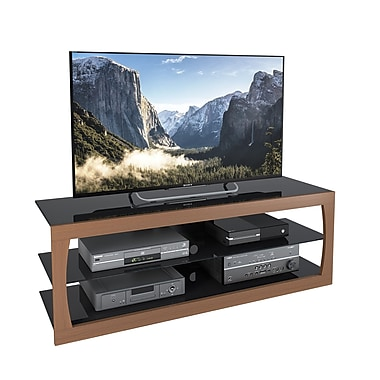 CorLiving™ TSL-223-T Santa Lana Faux Teak TV Stand for TVs up to 65