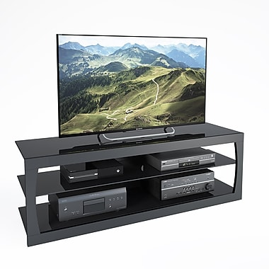 CorLiving™ TSL-303-T Santa Lana Black Matte TV Stand for TVs up to 70