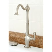 Kingston Brass Heritage Gourmetier Single Handle Low-Lead Cold Water Filtration Faucet; Satin Nickel