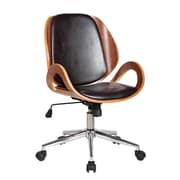Boraam Rika Desk Adjustable Mid-Back Conference Chair; Brown