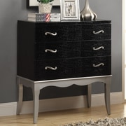 Monarch Specialties Inc. Bombay 3 Drawer Chest with Tapered Legs