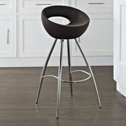 Modway Persist 28'' Swivel Bar Stool with Cushion; Brown