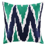Sis Boom by Jennifer Paganelli Sarah Embroidered Linen Throw Pillow; Blue/Green