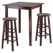 Winsome Parkland 3 Piece Counter Height Pub Table Set