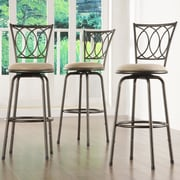 Kingstown Home Almeras Adjustable Height Swivel Bar Stool (Set of 3)