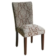 HomePop Elegant Upholstered Damask Parsons Chair (Set of 2)