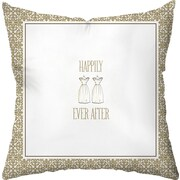 Checkerboard Wedding Two Gowns Throw Pillow